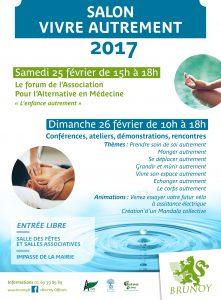 Affiche du Salon Vivre Autrement Brunoy 2017